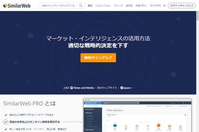 SimilarWebのサイトキャプチャー